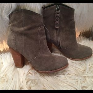 Joie size 36.5 grey suede bootie